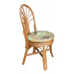 DESTOCKAGE !! Chaise en rotin et tissu motif floral