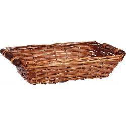 La Vannerie d'Aujourd'hui - Corbeille rectangulaire en éclisse et bois