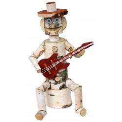 La Vannerie d'Aujourd'hui - Guitariste de décoration en osier et bouleau