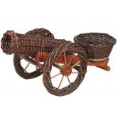 La Vannerie d'Aujourd'hui - Canon cache pot en osier brut et bois