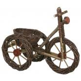 La Vannerie d'aujourd'hui - Vélo cache pot en osier brut