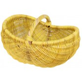 La Vannerie d'Aujourd'hui - Panier ovale cintré moelle de rotin jaune