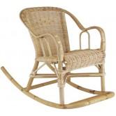 La Vannerie d'Aujourd'hui - Rocking chair en rotin pour enfant (fauteuil à bascule)