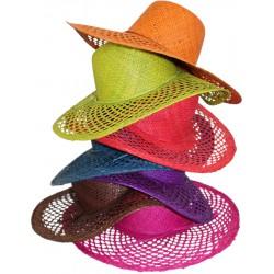 La Vannerie d'Aujourd'hui - Chapeau en raphia ajouré, coloris assortis
