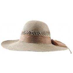 Chapeau pour femme en jonc avec ruban