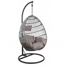 La Vannerie d'Aujourd'hui - Balancelle design ovale en résine grise