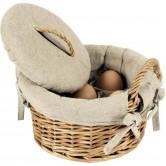 La Vannerie d'Aujourd'hui - Coffret à oeufs en osier et tissu