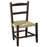 La Vannerie d'Aujourd'hui - Chaise pour enfant pas chère en bois foncé et paille
