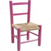 La Vannerie d'Aujourd'hui - Chaise enfant en bois coloris framboise