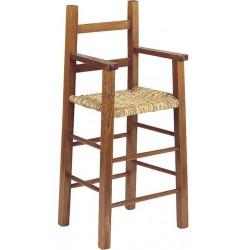 La Vannerie d'Aujourd'hui - Chaise haute pour enfant en bois foncé
