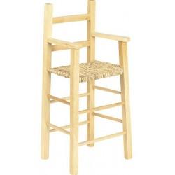 La Vannerie d'Aujourd'hui - Chaise haute pour enfant en bois naturel