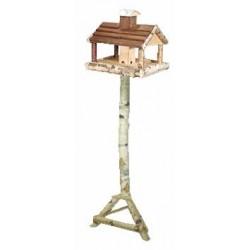 La Vannerie d'Aujourd'hui - Mangeoire à oiseaux en bouleau, sur pied