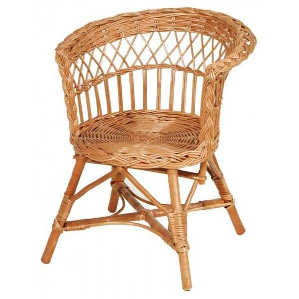 fauteuil enfant osier assise ronde la vannerie d 39 aujourd 39 hui. Black Bedroom Furniture Sets. Home Design Ideas
