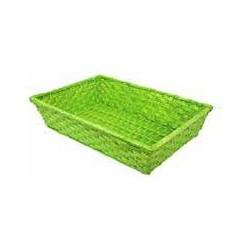 La Vannerie d'Aujourd'hui - Corbeille en bambou couleur verte