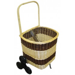 La Vannerie d'Aujourd'hui - Chariot à bois en osier 2 tons, 6 roues
