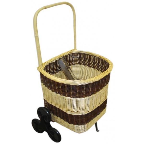 chariot bois 1 2 rond 6 roues la vannerie d 39 aujourd 39 hui. Black Bedroom Furniture Sets. Home Design Ideas