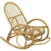 Rocking-chair rotin ajouré