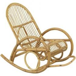 La Vannerie d'Aujourd'hui - Rocking chair design en rotin filet ajouré