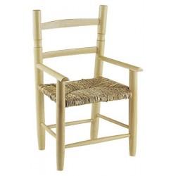 fauteuil enfant paille bois naturel - Fauteuil En Bois