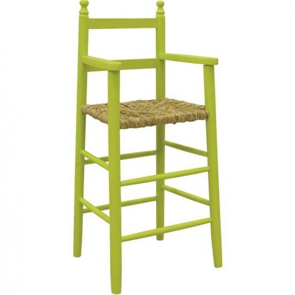chaise haute enfant bois anis. Black Bedroom Furniture Sets. Home Design Ideas