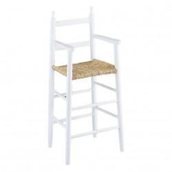 La Vannerie d\'Aujourd\'hui - Chaise haute pour enfant bois laqué blanc