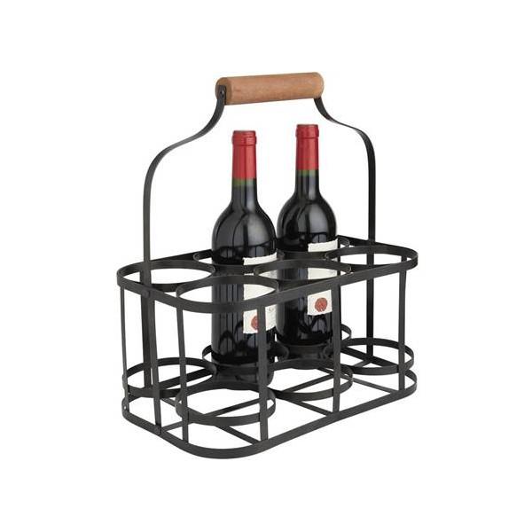 panier 6 bouteilles m tal noir la vannerie d 39 aujourd 39 hui. Black Bedroom Furniture Sets. Home Design Ideas