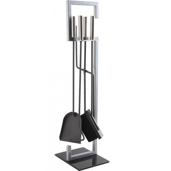 La Vannerie d\'Aujourd\'hui - Serviteur de cheminée design métal & verre