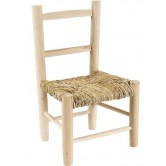 Chaise enfant paille bois brut (à peindre)