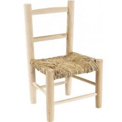 chaise enfant paille bois brut (à peindre) - la vannerie d'aujourd'hui - Peindre Des Chaises En Bois