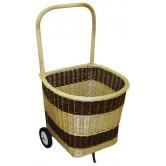La Vannerie d'Aujourd'hui - Chariot à bois bombé en osier 2 tons, avec 2 roues