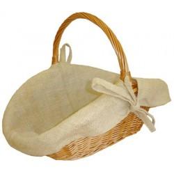 La Vannerie d'Aujourd'hui - Panier à bois en osier buff, avec doublure en toile de jute
