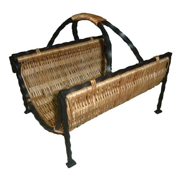 panier bois fer forg et osier la vannerie d 39 aujourd 39 hui. Black Bedroom Furniture Sets. Home Design Ideas
