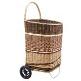 La Vannerie d'Aujourd'hui - Grand chariot à bois avec 2 roues, osier 3 tons