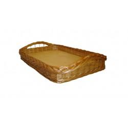 La Vannerie d'Aujourd'hui - Plateau osier buff fond bois 2 modèles