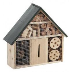 Maison à insectes murale en bois, grand modèle