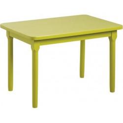 La Vannerie d'Aujourd'hui - Table enfant en hêtre, laquée vert anis