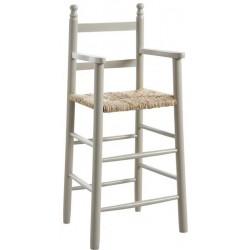 La Vannerie d'Aujourd'hui - Chaise haute pour enfant hêtre laqué gris
