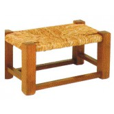 La Vannerie d'Aujourd'hui - Tabouret bas pour enfant en bois et paille