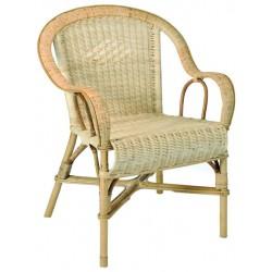 fauteuil tiss moelle de rotin dossier bas la vannerie d 39 aujourd 39 hui. Black Bedroom Furniture Sets. Home Design Ideas