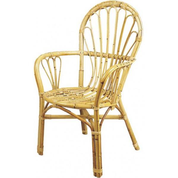 fauteuil rotin 39 palmette 39 dossier bas la vannerie d 39 aujourd 39 hui. Black Bedroom Furniture Sets. Home Design Ideas