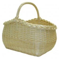 Panier vendéen inversé en osier blanc ou 2 tons, 2 modèles