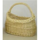Panier enfant vendéen ovale en osier blanc ou 2 tons