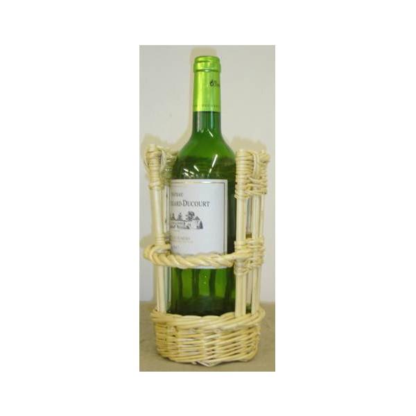panier porte bouteille osier blanc ou 2 tons la vannerie. Black Bedroom Furniture Sets. Home Design Ideas