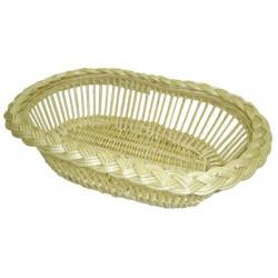 Corbeille à pain ovale ajourée en osier, 2 modèles