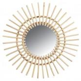 La Vannerie d'Aujourd'hui - Miroir en rotin design vintage soleil type Chaty