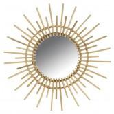 La Vannerie d'Aujourd'hui - Miroir en rotin design soleil grand format