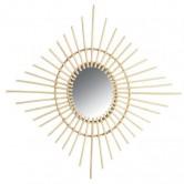 La Vannerie d'Aujourd'hui - Miroir design losange en rotin naturel
