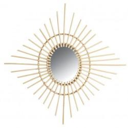 Miroir en rotin losange la vannerie d 39 aujourd 39 hui for Miroir losange