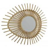 La Vannerie d'Aujourd'hui - Miroir design oeuf en rotin naturel
