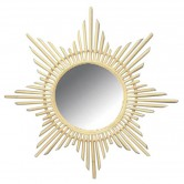 La Vannerie d'Aujourd'hui - Miroir design étoile en rotin naturel